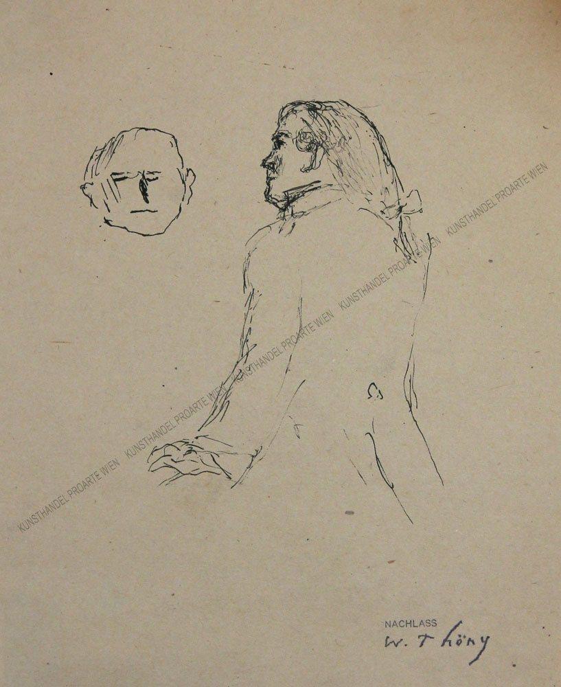 WILHELM-THÖNY-1888-1949-–-MANN-MIT-ZOPF-–-TuschePap.um-1925
