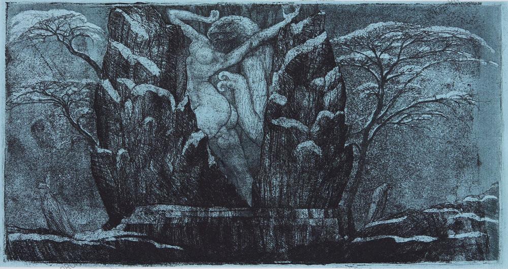 ERNST-FUCHS-–-DAS-GEFÄNGNIS-DES-SOMMERS-Aquatinta-1972-31200