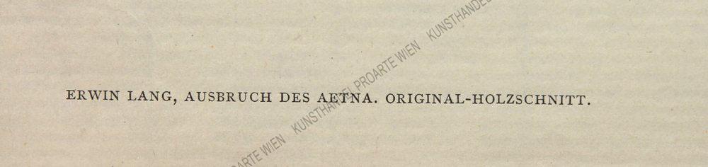 Erwin Lang - Ausbruch des Aetna