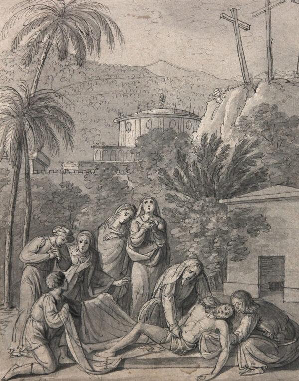 Künstler unbekannt - Grablegung Christi
