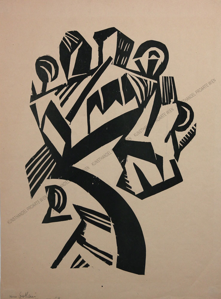 Werner Gothein - Kubistische Darstellung