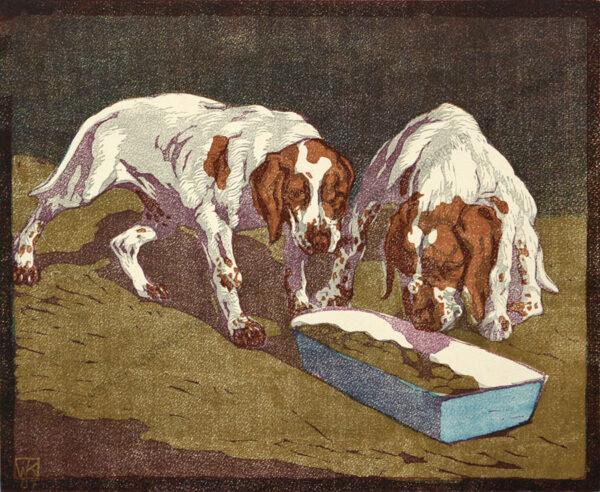 Walther Klemm - Junge Hunde