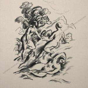 Felix Albrecht Harta - Drei badende Frauen