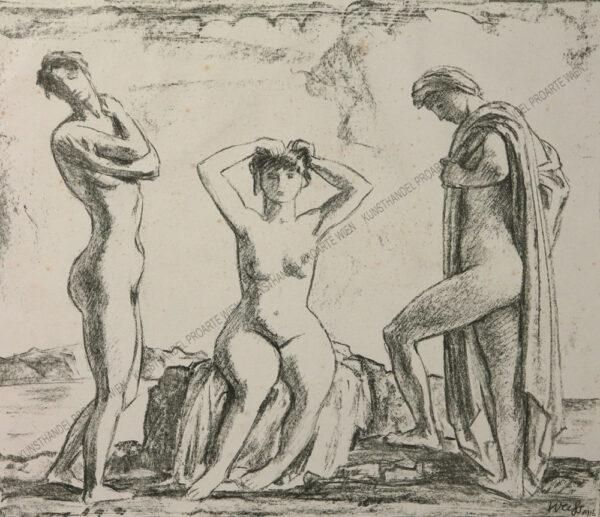 Emil Rudolf Weiss - Drei badende Frauen