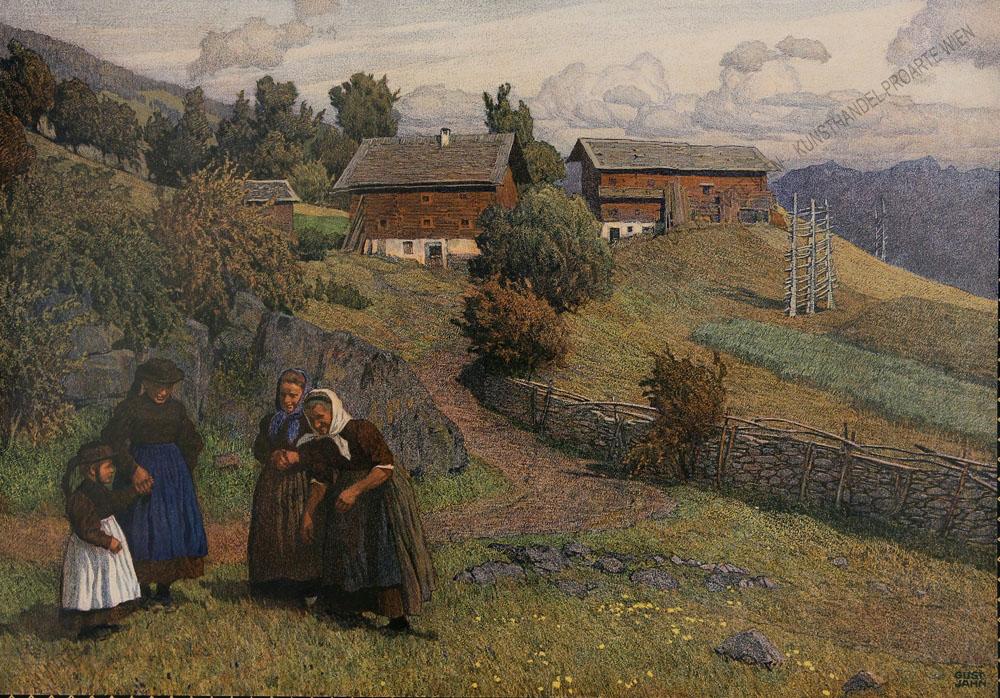 Gustav Jahn - Motiv aus Südtirol