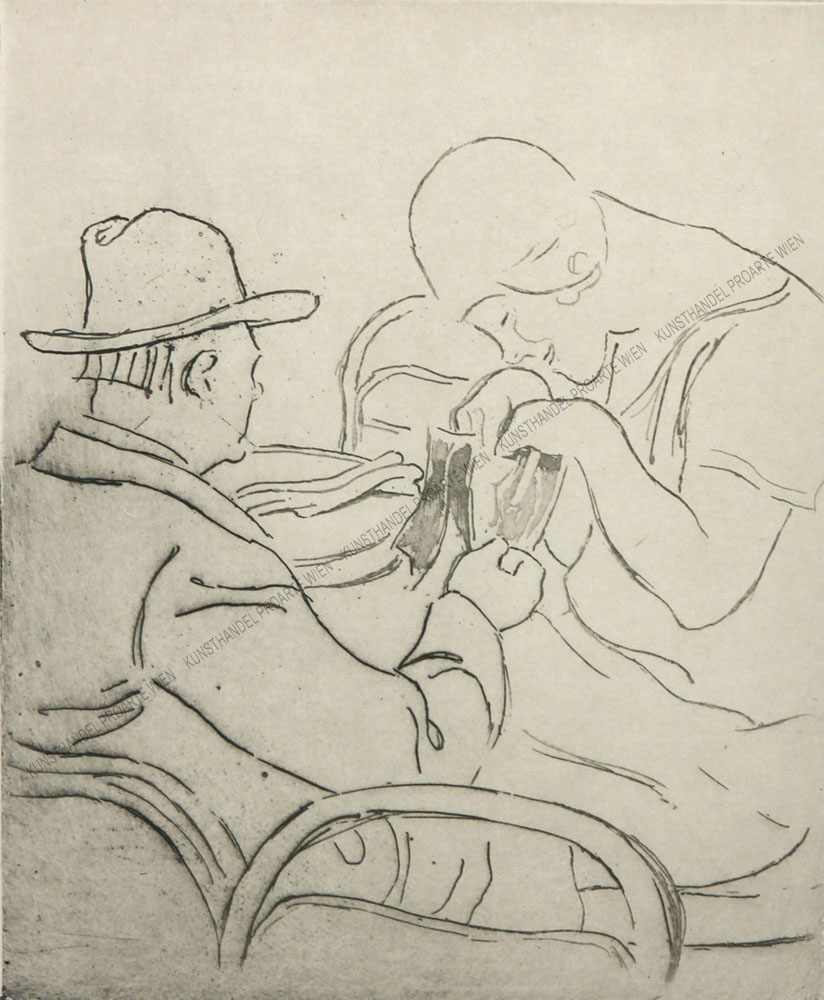 Louis Legrand - Dame und Herr im Kaffeehaus