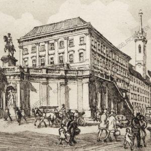 Herta Czoernig - Gobanz - Blick auf die Albertina in Wien