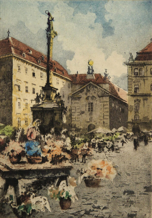 Karl Tucek - Wien - Blumenmarkt am Platz am Hof