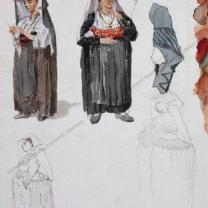 Künstler unbekannt - Kostüm aus Avigliano