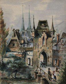 Teischner - Blick auf das Marientor in Nürnberg