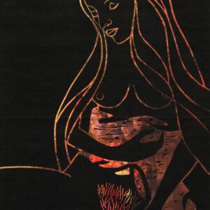 Karl Tomasovsky - Erotischer Frauenakt mit Tuch