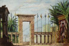 Anton Brioschi - Tempelanlage in Ägypten