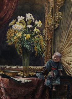 Gustav Bamberger - Stillleben mit chinesischer Figur