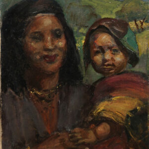 Victor Krämer - Motiv aus dem Orient -Mutter mit Kind, vermutlich in Jericho