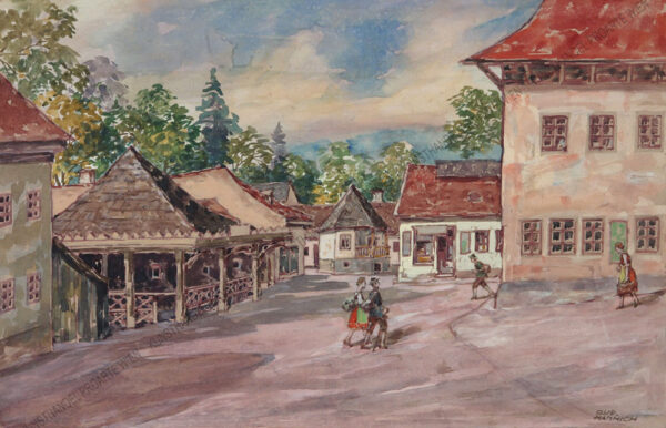 Rudolf Hannich - Motiv aus Kalksburg