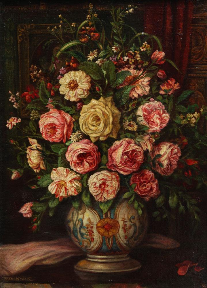 Franz Nowak - Prachtvolles Blumenstillleben
