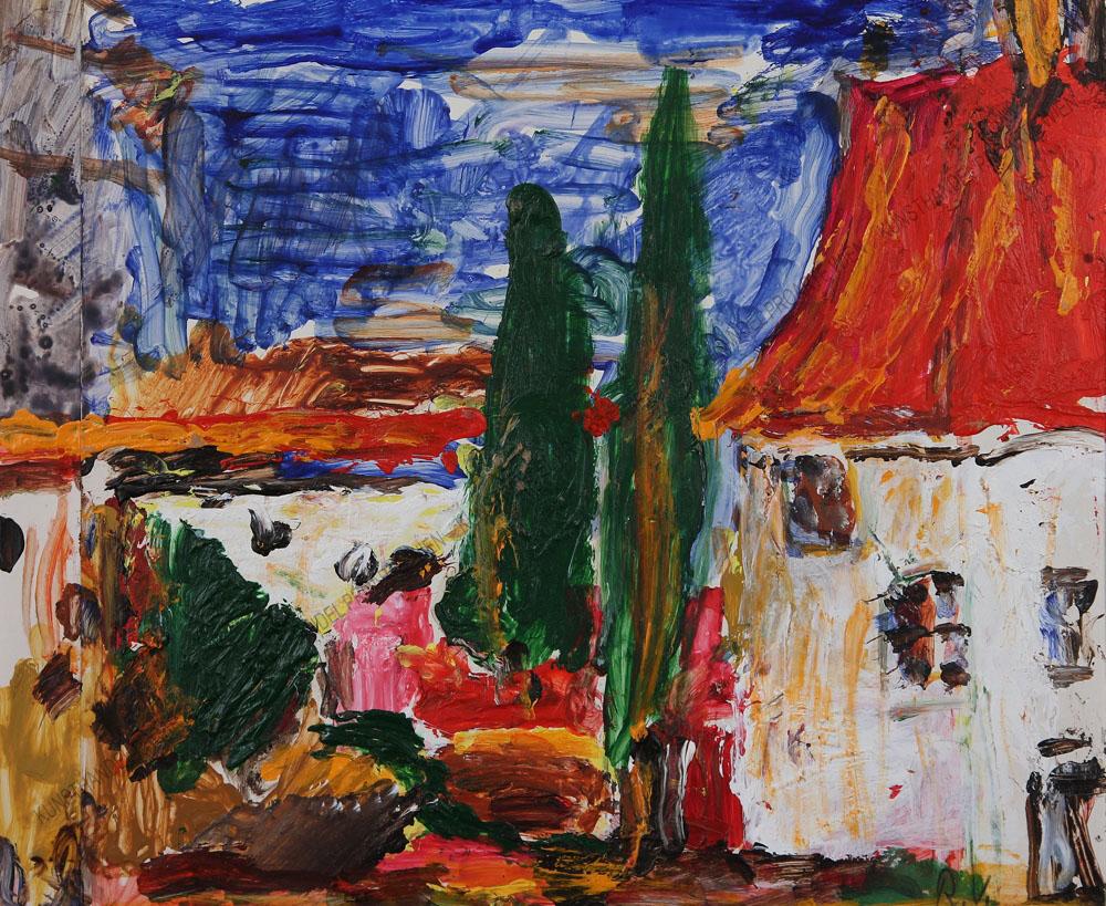 Rudolf Ullik - Oberitalienische Landschaft