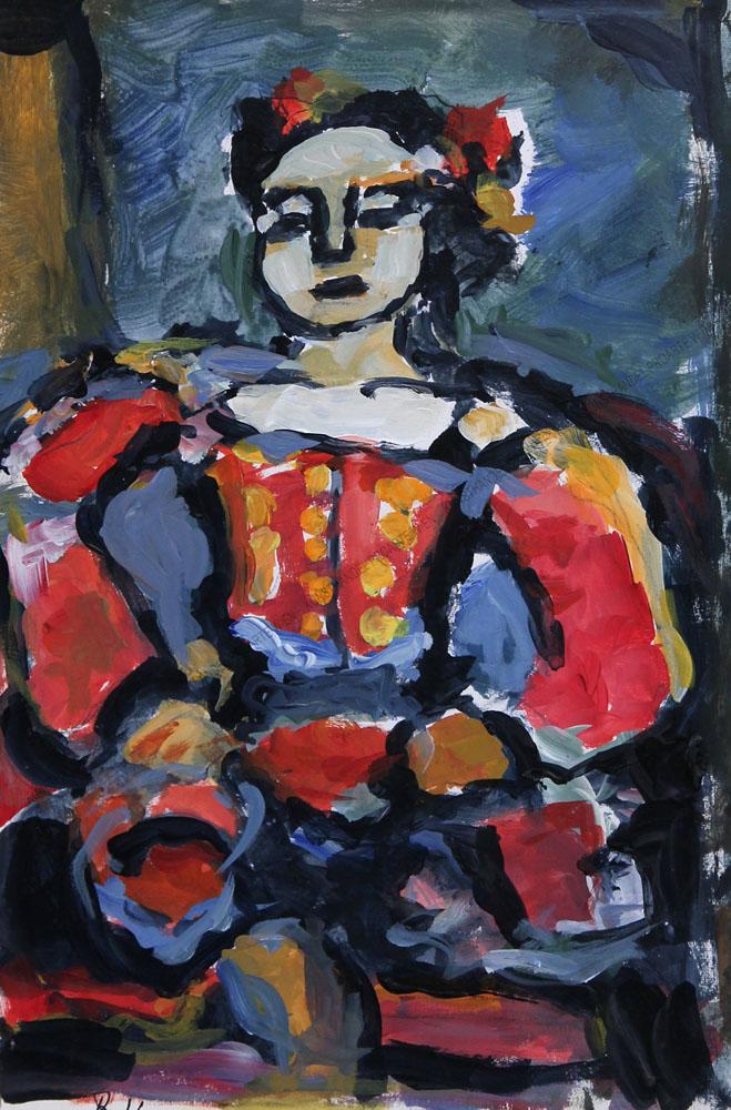 Rudolf Ullik - Bildnis einer jungen Frau