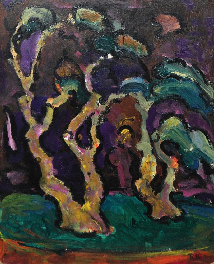 Rudolf Ullik - Bäume - expressionistisch