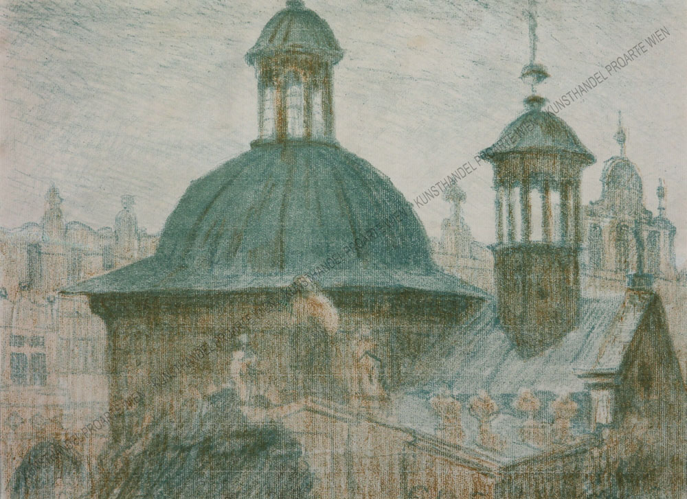 Jan Wojnarski - Blick auf die Hl.Adalbert Kirche/Kościółśw. Wojciecha am Krakauer Hauptplatz