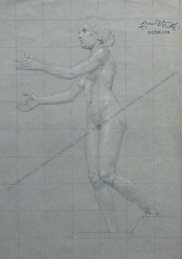 Eduard Veith - Weiblicher, stehender Akt