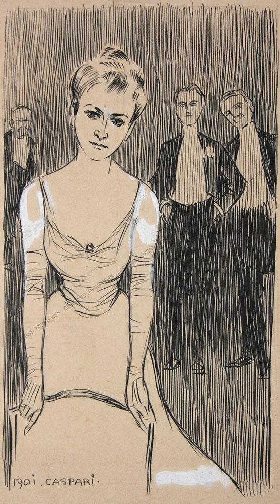 Walther Caspari - Junge Dame mit drei Verehrern