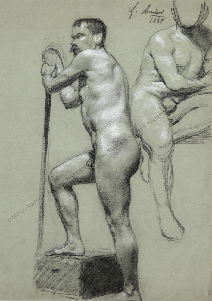 Ferdinand Andri - Zwei Männerakte - ein Frühwerk des Künstlers