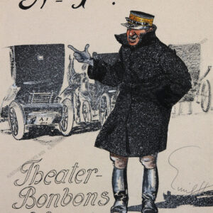 Emil Hübl - Wiener Dienstmann vor dem Burgtheater
