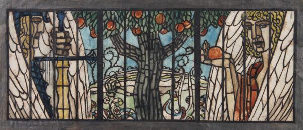 Remigius Geyling - Originalentwurf für ein Glasfenster