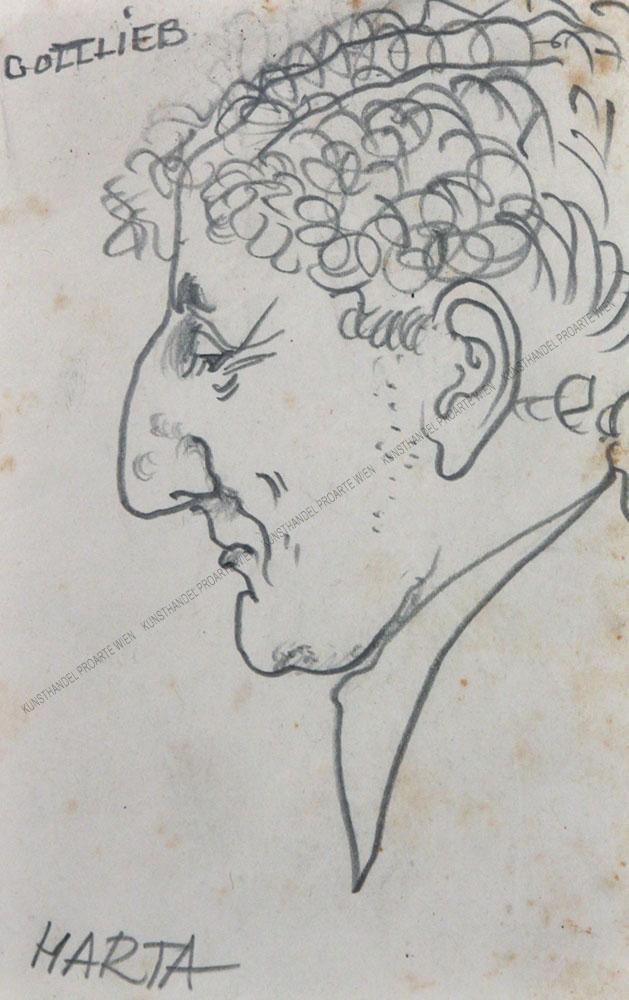 Felix Albrecht Harta - Malerkollege Leopold Gottlieb (1879 - 1933) en Profil