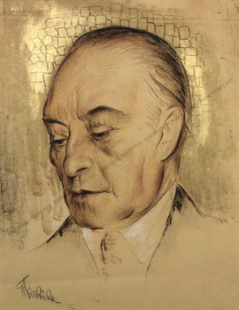 Anton Filkuka - Portrait des Konrad Adenauer