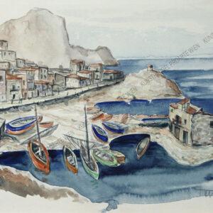 Toni Hofer - Fischerdorf bei Palermo