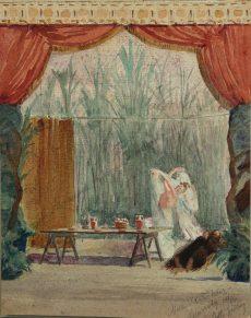Albert Rudolf Sjöberg - Tänzerin auf der Bühne