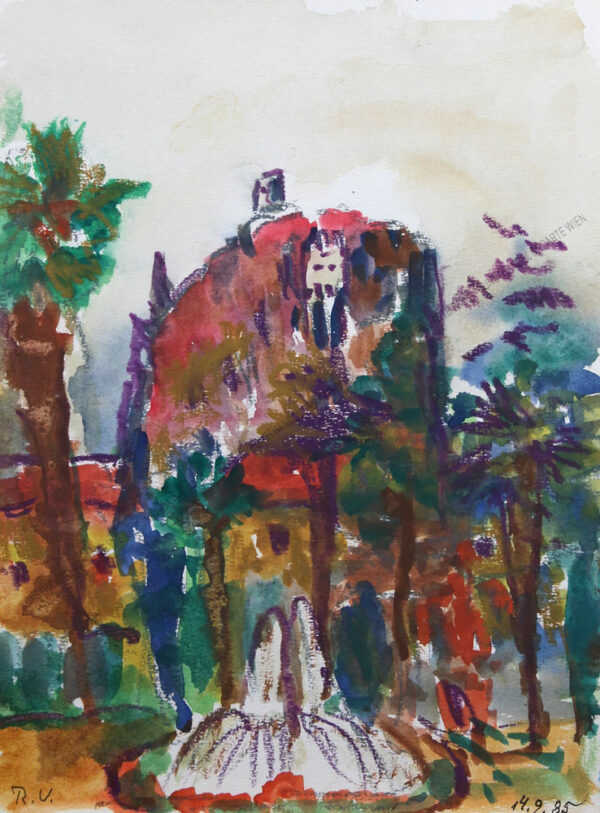 Rudolf Ullik - Motiv aus Oberitalien