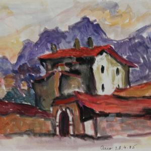 Rudolf Ullik - Motiv aus Italien-Arco