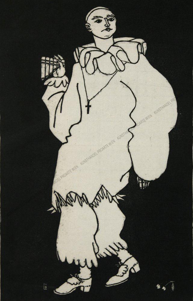 Berthold Löffler - Pierrot mit Panflöte