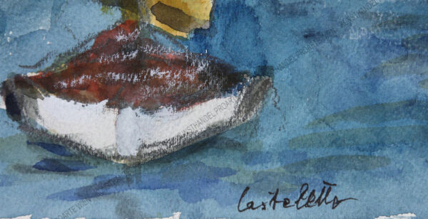 Rudolf Ullik - Der Hafen von Castelletto am Gardasee