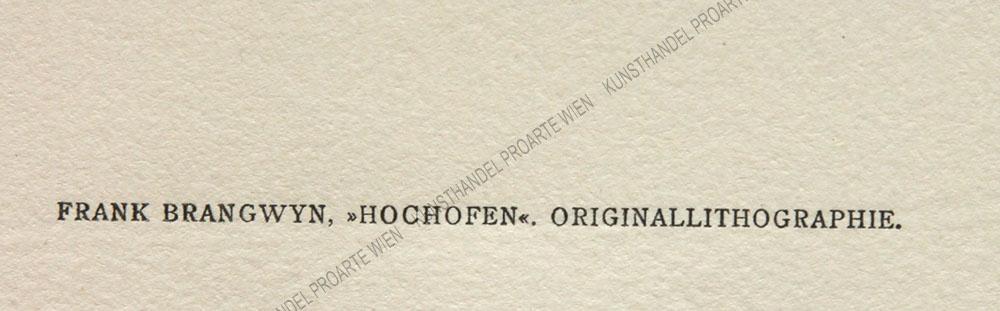 Frank Brangwyn - Hochofen