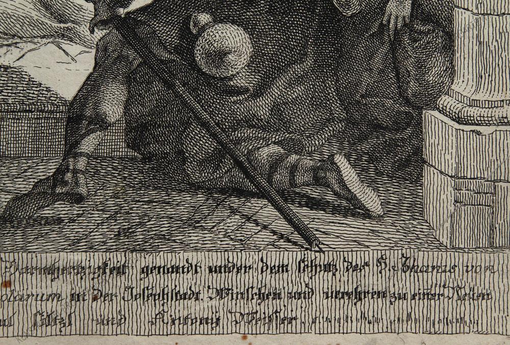 Jakob Matthias Schmutzer II - Der hl. Johann von Nepomuk als Fürsprecher der Armen und Kranken
