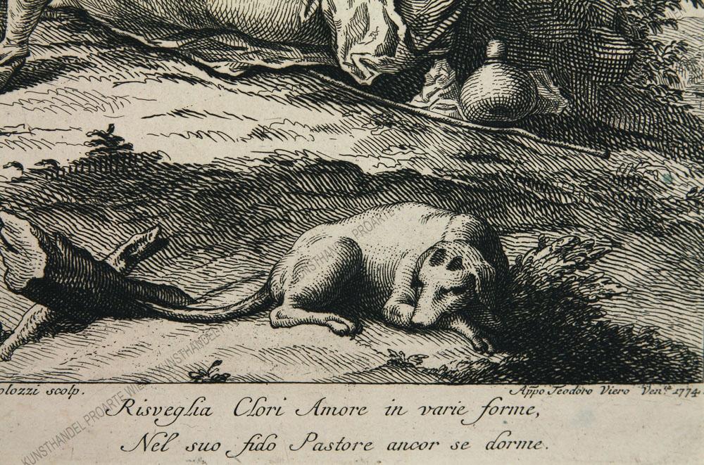 Francesco Bartolozzi und Teodoro Viero - Die schlafende Schäferin