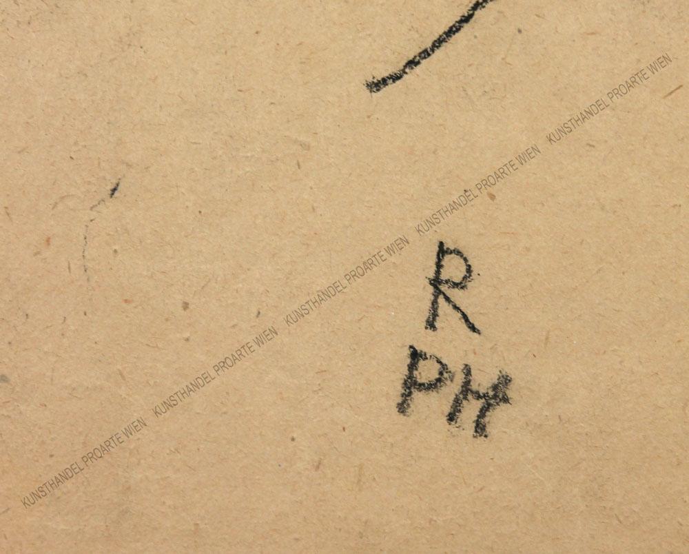 Robert Philippi - Sitzender Frauenakt