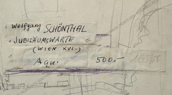 Wolfgang Schönthal - Blick auf die Jubiläumswarte in Wien Ottakring XVI