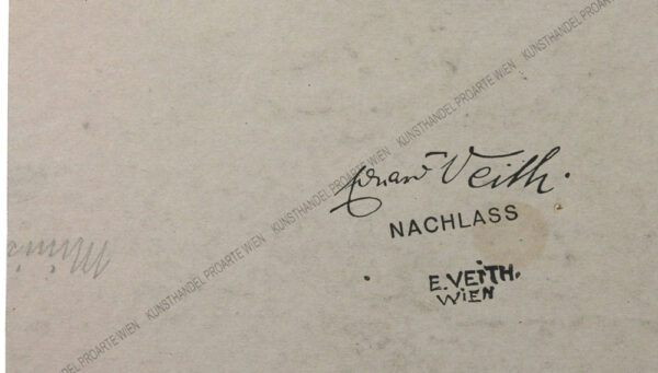 Eduard Veith - Studienblatt - Ministranten sowie Handstudien
