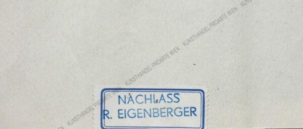 Robert Eigenberger - Sitzender weiblicher Akt, Zeitung lesend