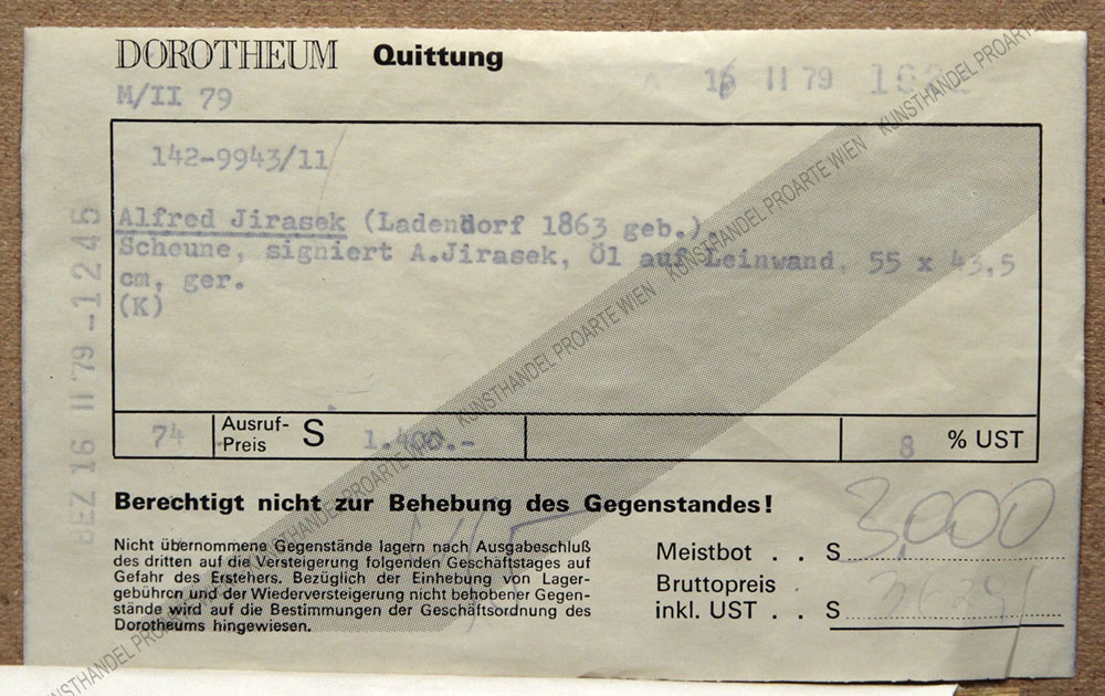 Alfred Jirasek - Scheune in Uttendorf, Salzburg