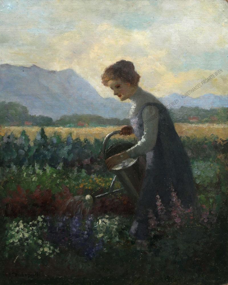 Klothilde (Clothilde ) Tschuppik - Kinderportrait ( kleines Mädchen)