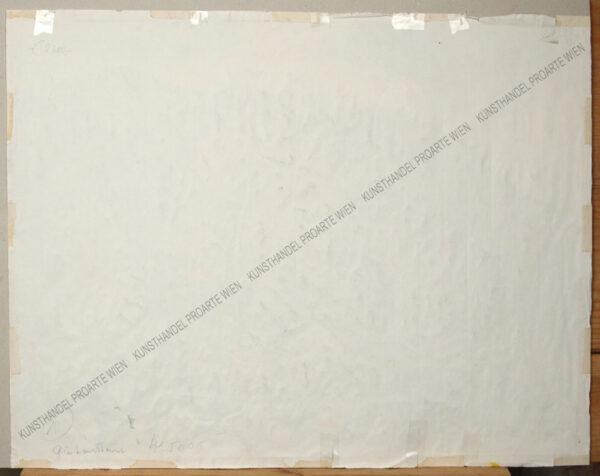 Rudolf Buchner (1894- 1962) Blick auf Gutenstein Aquarell auf Bütten Blattgröße: 46 x 31 cm Rechts unten signiert: R. Buchner Auf der Rückseite bezeichnet: Gutenstein um 1935/1940 Einige unterklebte Einrisse, siehe Fotos