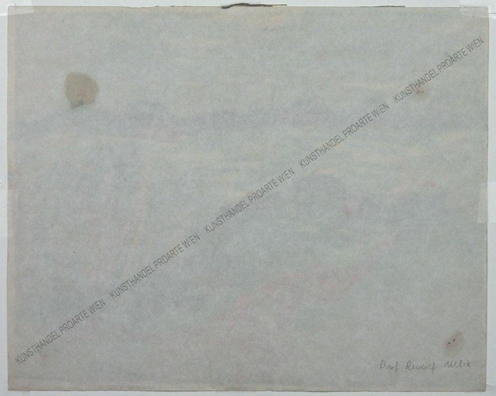 Rudolf Ullik - Motiv aus dem Burgenland-Blick auf den Zicksee