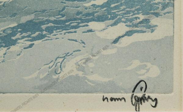 Hans Figura - Verschneite Doline bei Kitzbühel