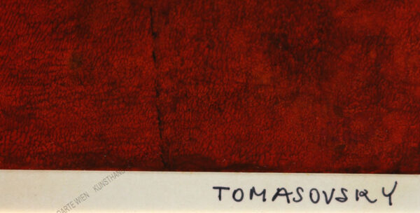 Karl Tomasovsky - Blumenstillleben in Orange
